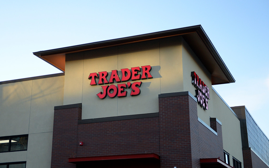 . The new Trader Joe\'s, located on Colorado Blvd. and East 8th Avenue in Denver, opened its doors, February, 14 2014. Two other Trader Joe\'s locations in Colorado will also open today. (Photo by RJ Sangosti/The Denver Post)