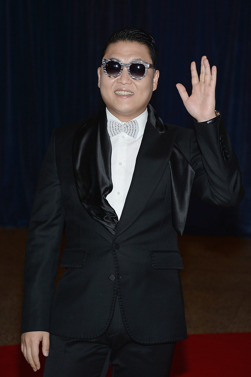 . WASHINGTON, DC - APRIL 27:  Psy attends the White House Correspondents\' Association Dinner at the Washington Hilton on April 27, 2013 in Washington, DC.  (Photo by Dimitrios Kambouris/Getty Images)