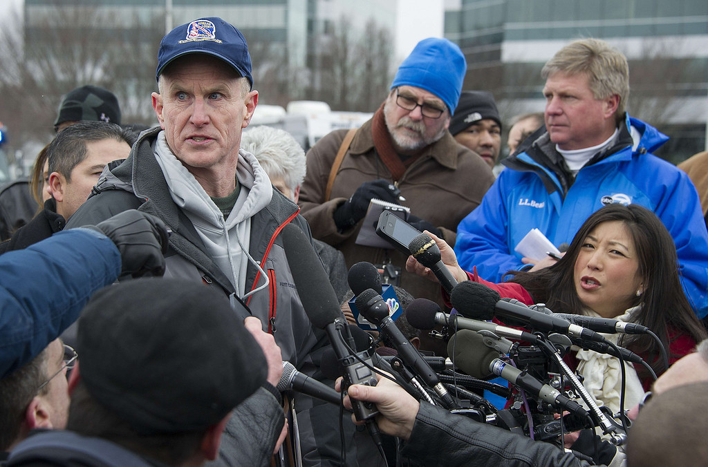 . Howard County Police Chief Bill McMahon speaks during a press conference outside the Columbia Mall after a fatal shooting on January 25, 2014.     AFP PHOTO / Jim WATSON/AFP/Getty Images