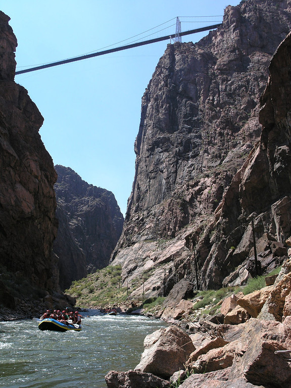 . The Royal Gorge on the Arkansas River is one of the most exciting whitewater experiences in Colorado, taking you deep into the canyon and offering views from below of the Royal Gorge Bridge.  (Provided by Colorado River Outfitters Association)