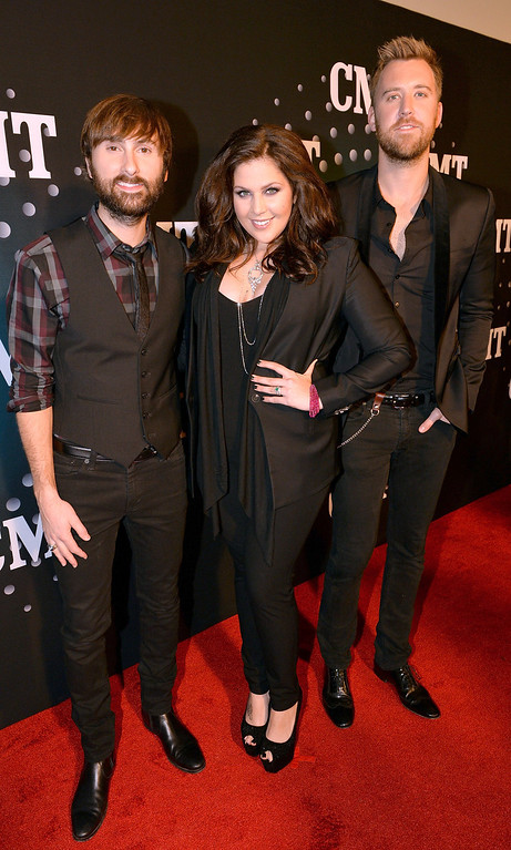 . Lady Antebellum attends CMT Artists Of The Year 2013 at Music City Center on December 3, 2013 in Nashville, Tennessee.  (Photo by Rick Diamond/Getty Images for CMT)
