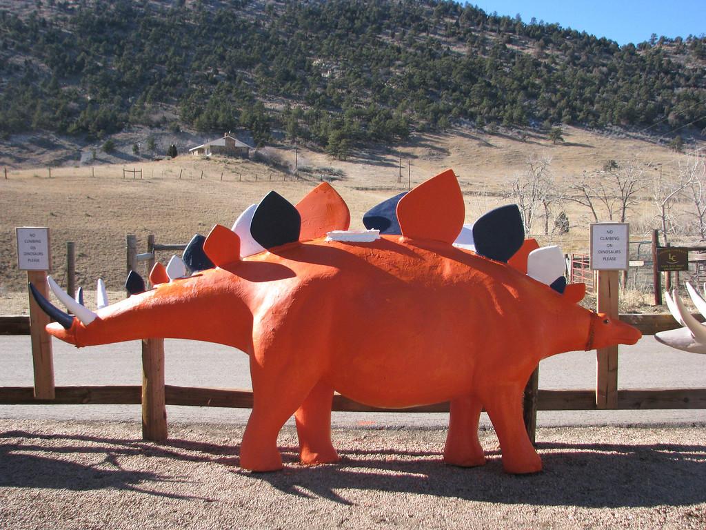 . Broncosaurus at Dinosaur Ridge. Photo submitted by Amber Cain