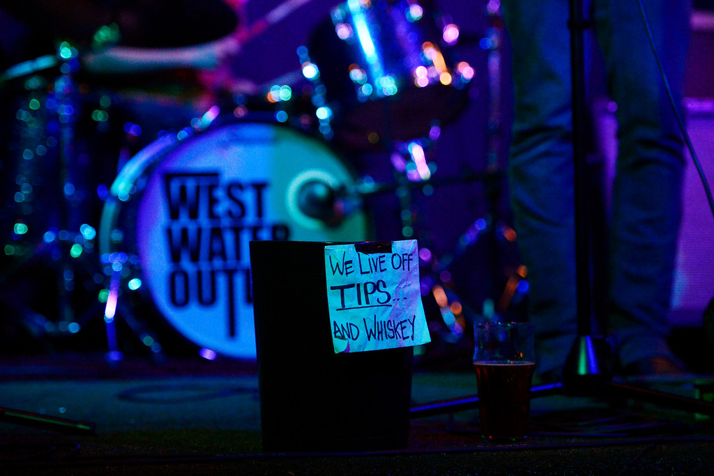 . DENVER, CO - MAY 15: West Water Outlaws perform at one of Denver\'s newest venues Armoury at 20th and Larimer. The venue features musicians, drinks and art for sale. (Photo by AAron Ontiveroz/The Denver Post)