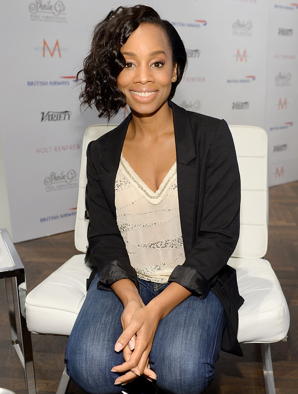 . Actress Anika Noni Rose attends Variety Studio At Holt Renfrew during the 2013 Toronto International Film Festival on September 8, 2013 in Toronto, Canada.  (Photo by Michael Buckner/Getty Images for Variety)