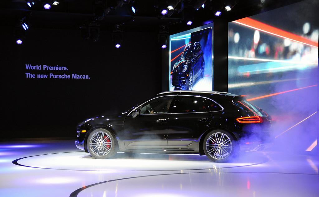 . Porsche world premiere of the Macan Turbo at the 2013 LA Auto Show in Los Angeles, California, USA, 20 November 2013.  EPA/BOB RIHA JR