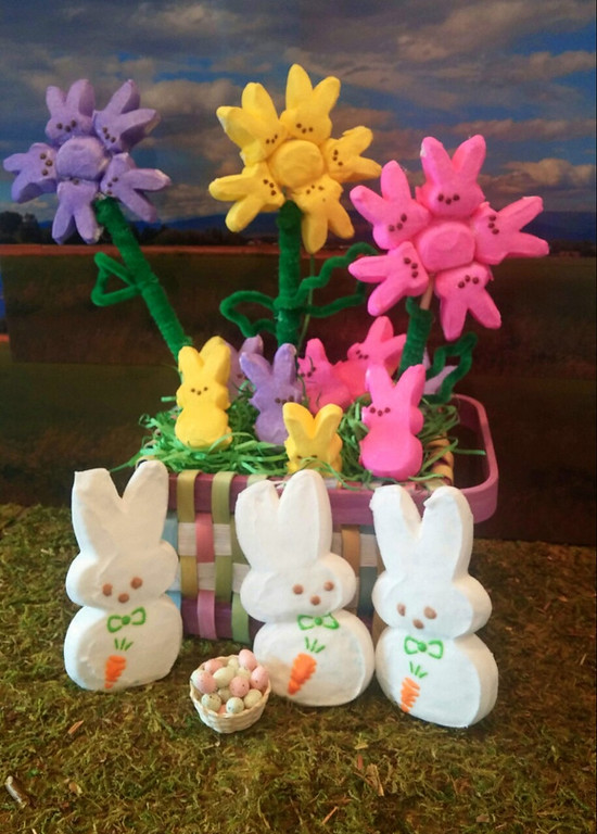 . I thought after this cold, wet spring, a bouquet of colorul PEEPS would cheer anybody up.