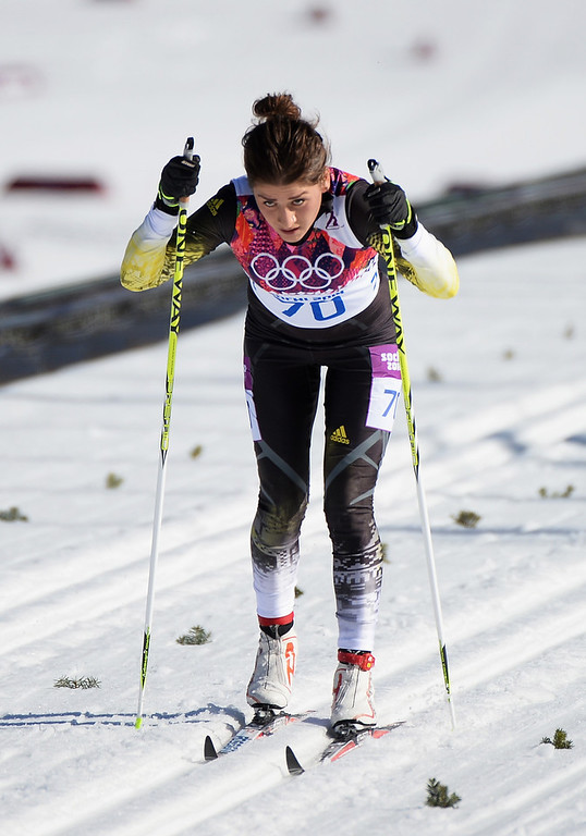 . Katya Galstyan of Armenia competes in the Women\'s 10 km Classic during day six of the Sochi 2014 Winter Olympics at Laura Cross-country Ski & Biathlon Center on February 13, 2014 in Sochi, Russia.  (Photo by Harry How/Getty Images)