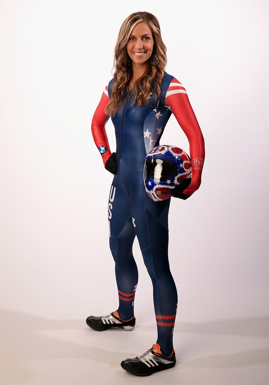 . Skeleton racer Noelle Pikus-Pace poses for a portrait during the USOC Media Summit ahead of the Sochi 2014 Winter Olympics on September 29, 2013 in Park City, Utah.  (Photo by Doug Pensinger/Getty Images)