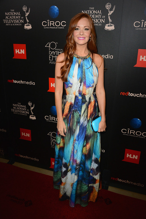 . Actress Emily Wilson attends The 40th Annual Daytime Emmy Awards at The Beverly Hilton Hotel on June 16, 2013 in Beverly Hills, California.  (Photo by Mark Davis/Getty Images)