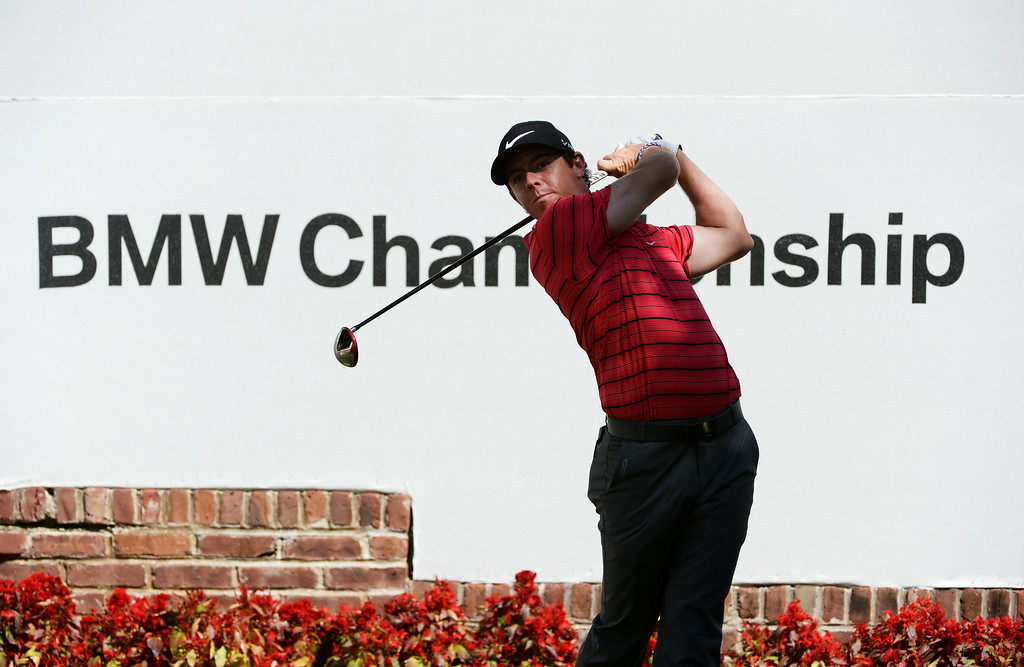 . CHERRY HILLS VILLAGE, CO. - SEPTEMBER 02:  Professional golfer, Rory McIIroy, tees off the #1 tee box during a practice round at the FedExCup BMW Championship at the Cherry Hills Country Club Tuesday, September 02, 2014. (Photo By Andy Cross / The Denver Post)