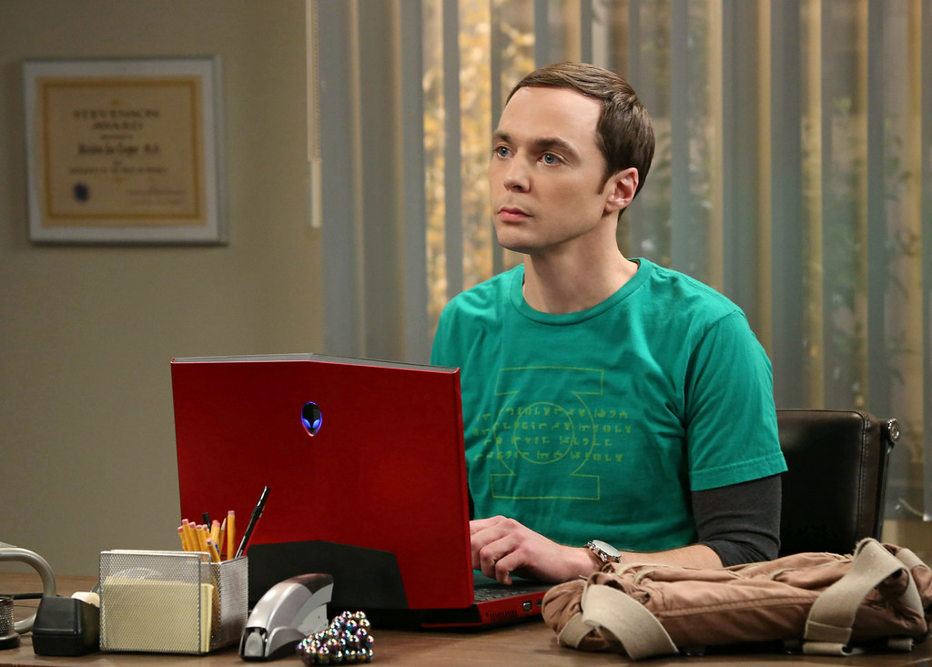 ". This image released by CBS shows Jim Parsons in a scene from ""The Big Bang Theory.\"" Parsons was nominated for an Emmy Award for best actor in a comedy on Thursday, July 10, 2014. The 66th Primetime Emmy Awards will be presented Aug. 25 at the Nokia Theatre in Los Angeles. (AP Photo/CBS, Michael Yarish)"