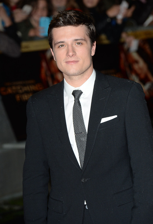 """. Josh Hutcherson attends the UK Premiere of \""""The Hunger Games: Catching Fire\"""" at Odeon Leicester Square on November 11, 2013 in London, England. (Photo by Zak Hussein/Getty Images)"""
