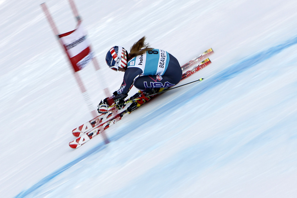 . Mikaela Shiffrin of the USA takes the 2nd place during the Audi FIS Alpine Ski World Cup Women\'s Giant Slalom on December 01, 2013 in Beaver Creek, Colorado. (Photo by Alexis Boichard/Agence Zoom/Getty Images)