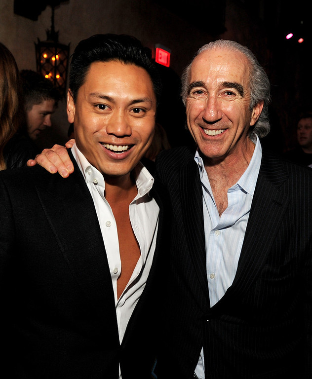 ". Director Jon M. Chu (L) and executive producer Gary Barber pose at the after party for the premiere of Paramount Pictures\' ""G.I. Joe: Retaliation\"" at the Roosevelt Hotel on March 28, 2013 in Los Angeles, California.  (Photo by Kevin Winter/Getty Images)"