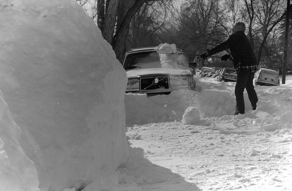 . Digging out after the Blizzard of \'82. Denver Post Library Archive