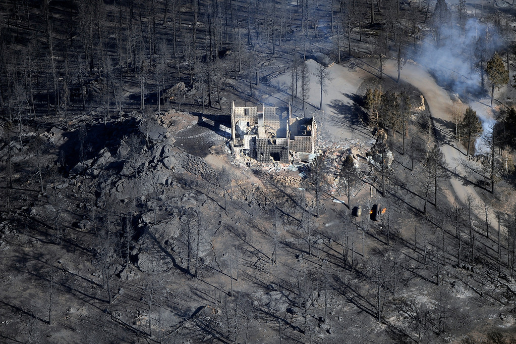 . A home completely burned during the Lower North Fork Wildfire near Denver Colorado, Tuesday, March 27, 2012.   Joe Amon, The Denver Post