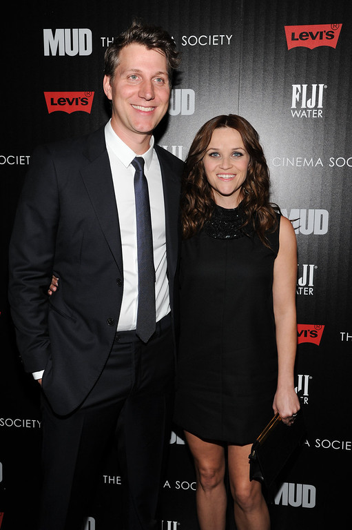 """. Actress Reese Witherspoon, right, and writer - director Jeff Nichols attend the premiere of \""""Mud\"""" hosted by The Cinema Societywith FIJI Water & Levi\'s at the Museum of Modern Art on Monday April 21, 2013 in New York. (Photo by Evan Agostini/InvisionAP)"""