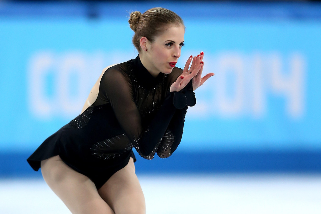 . Carolina Kostner of Italy competes in the Figure Skating Ladies\' Free Skating on day 13 of the Sochi 2014 Winter Olympics at Iceberg Skating Palace on February 20, 2014 in Sochi, Russia.  (Photo by Matthew Stockman/Getty Images)