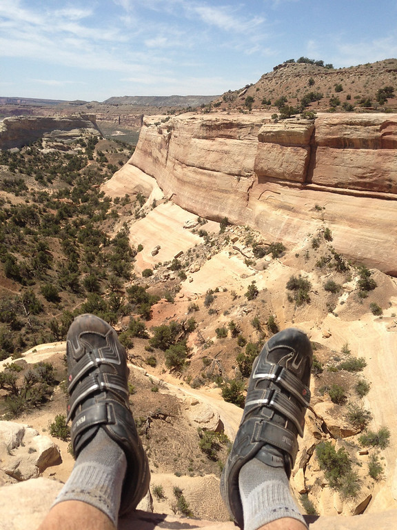 . Giving the legs a rest while on the West Rim trail. Handout Photo