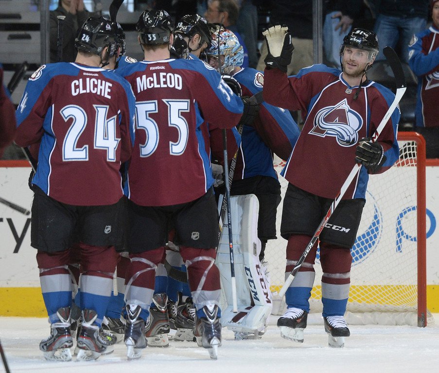 . DENVER, CO. - DECEMBER 19: in the third period. The Colorado Avalanche defeated the Edmonton Oilers 4-2 Thursday night, December 19, 2013.  Photo By Karl Gehring/The Denver Post