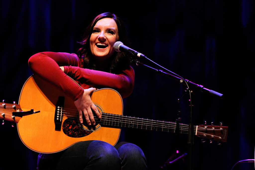 . NASHVILLE, TN - NOVEMBER 05:  Brandy Clark performs during the 2013 CMA Songwriters Series at the CMA Theater on November 5, 2013 in Nashville, Tennessee.  (Photo by Terry Wyatt/Getty Images)
