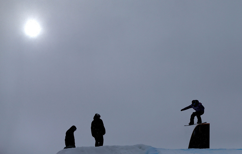 . Joanna Dzierzawski of Poland competes during qualifying for the women\'s FIS Snowboard Slopestyle World Cup at U.S. Snowboarding and Freeskiing Grand Prix on December 20, 2013 in Copper Mountain, Colorado.  (Photo by Mike Ehrmann/Getty Images)