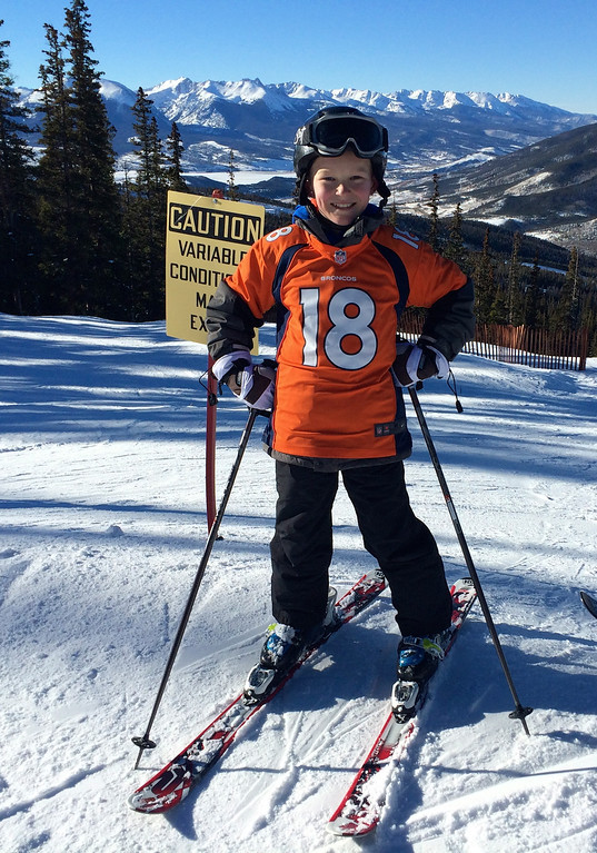 . This young Broncos fan showed his support while skiing at Keystone before the AFC Championship game.