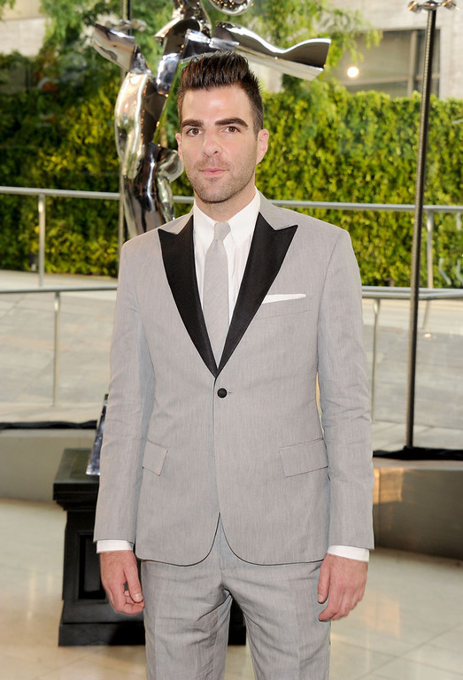 . Zachary Quinto attends 2013 CFDA FASHION AWARDS Underwritten By Swarovski - Red Carpet Arrivals at Lincoln Center on June 3, 2013 in New York City.  (Photo by Jamie McCarthy/Getty Images)