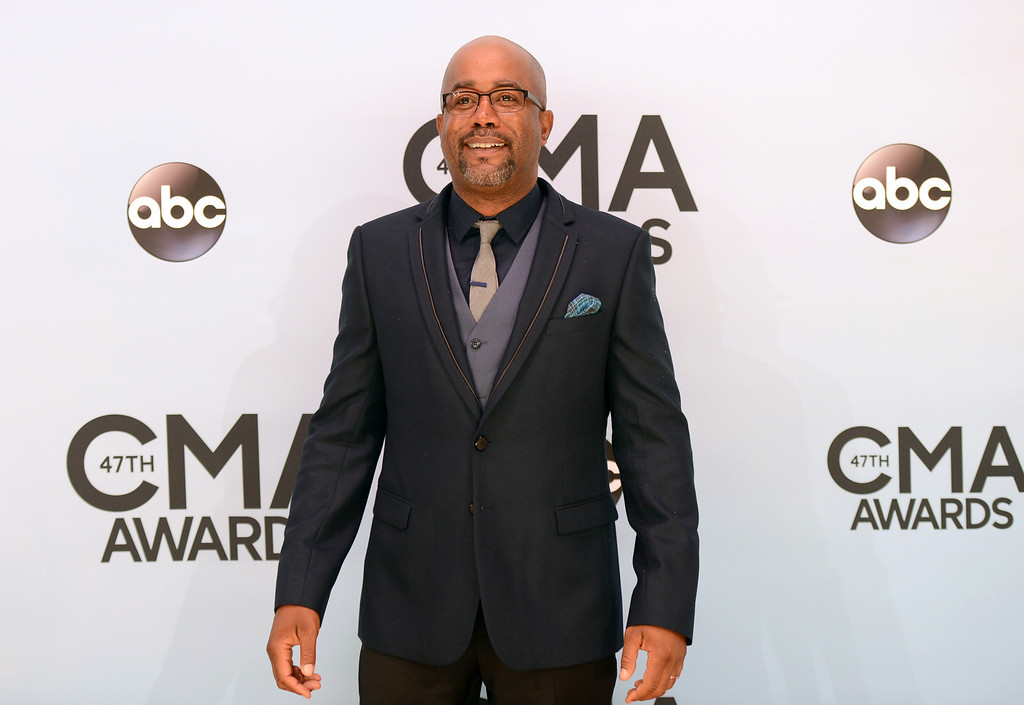 . Darius Rucker arrives at the 47th annual CMA Awards at Bridgestone Arena on Wednesday, Nov. 6, 2013, in Nashville, Tenn. (Photo by Evan Agostini/Invision/AP)