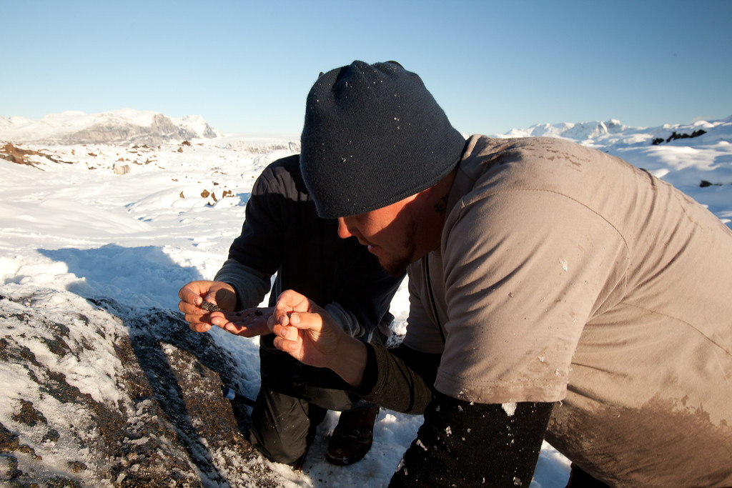 . Americo DiSantis and Josh Feldman prospecting in Fiskenaessik. Peter Stoddard/Discovery Communications