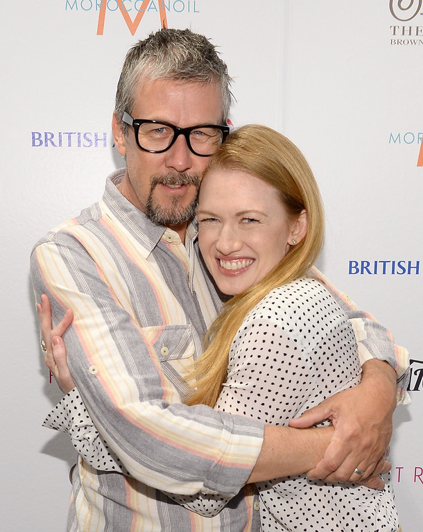 . Actors Alan Ruck (L) and Mireille Enos attend the Variety Studio At Holt Renfrew during the 2013 Toronto International Film Festival on September 8, 2013 in Toronto, Canada.  (Photo by Michael Buckner/Getty Images for Variety)