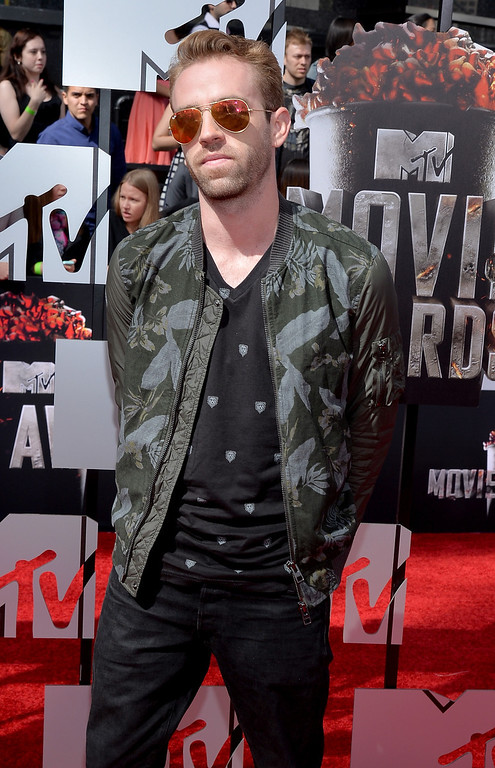 ". Scott ""Big Cat\"" Pfaff attends the 2014 MTV Movie Awards at Nokia Theatre L.A. Live on April 13, 2014 in Los Angeles, California.  (Photo by Michael Buckner/Getty Images)"