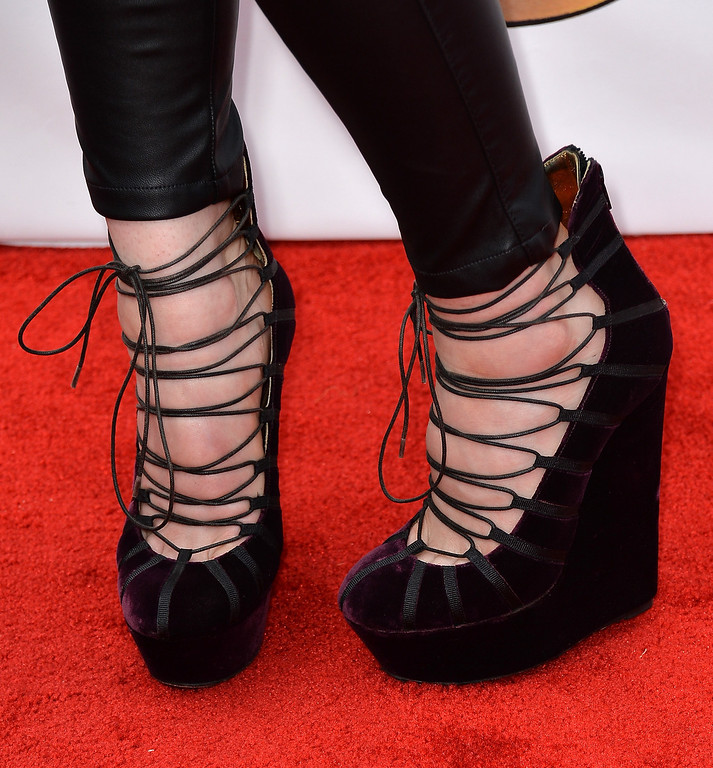 . Musician Lindsey Stirling (shoe detail) attends the 2014 Billboard Music Awards at the MGM Grand Garden Arena on May 18, 2014 in Las Vegas, Nevada.  (Photo by Frazer Harrison/Getty Images)