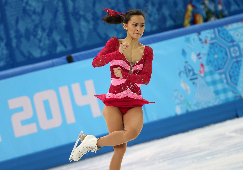 . Anne Line Gjersem of Norway performs in the Figure Skating Women\'s Free Skating event at Iceberg Skating Palace during the Sochi 2014 Olympic Games, Sochi, Russia, 20 February 2014.  EPA/HOW HWEE YOUNG