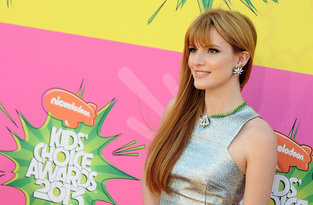 . Bella Thorne arrives at the 26th annual Nickelodeon\'s Kids\' Choice Awards on Saturday, March 23, 2013, in Los Angeles. (Photo by Jordan Strauss/Invision/AP)