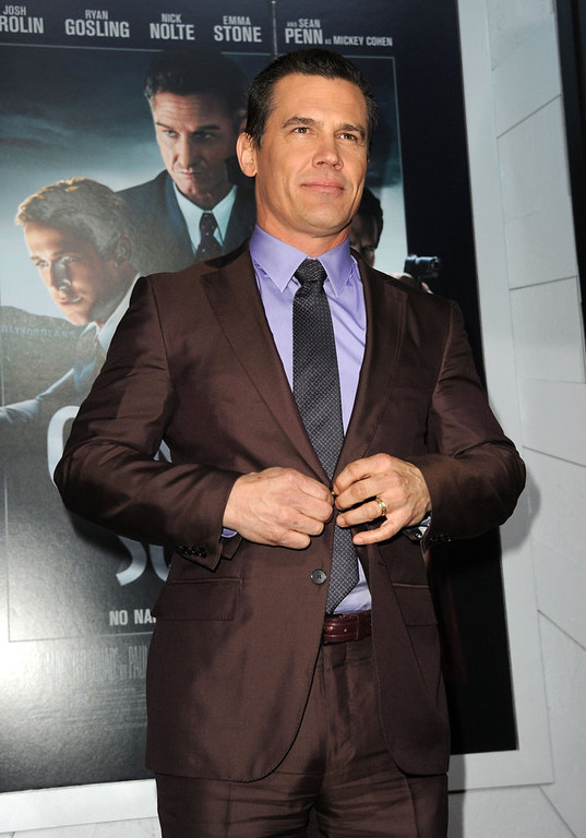 """. Actor Josh Brolin arrives at Warner Bros. Pictures\' \""""Gangster Squad\"""" premiere at Grauman\'s Chinese Theatre on January 7, 2013 in Hollywood, California.  (Photo by Kevin Winter/Getty Images)"""