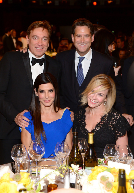 . HOLLYWOOD, CA - JUNE 05:  Kevin Huvane of CAA, President of Turner Networks Michael Wright, actress Sandra Bullock and TV personality Chelsea Handler attend the 2014 AFI Life Achievement Award: A Tribute to Jane Fonda at the Dolby Theatre on June 5, 2014 in Hollywood, California. Tribute show airing Saturday, June 14, 2014 at 9pm ET/PT on TNT.  (Photo by Frazer Harrison/Getty Images for AFI)