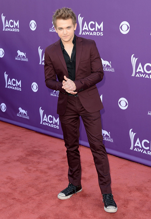 . Singer Hunter Hayes arrives at the 48th Annual Academy of Country Music Awards at the MGM Grand Garden Arena on April 7, 2013 in Las Vegas, Nevada.  (Photo by Jason Merritt/Getty Images)
