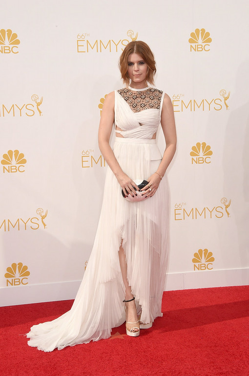 . Actress Kate Mara attends the 66th Annual Primetime Emmy Awards held at Nokia Theatre L.A. Live on August 25, 2014 in Los Angeles, California.  (Photo by Jason Merritt/Getty Images)