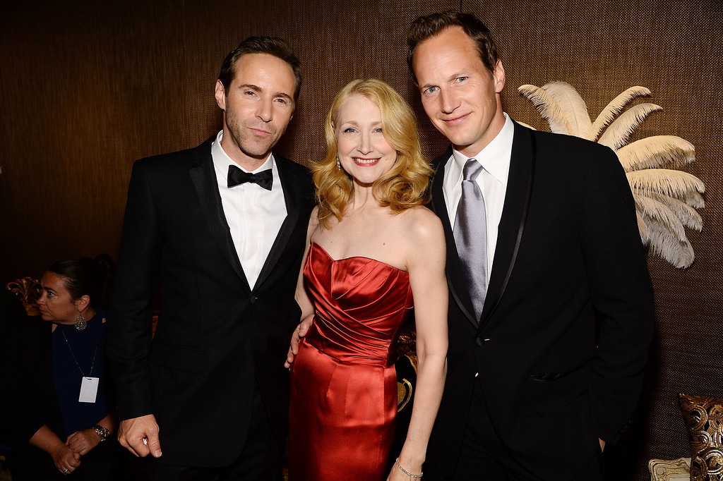 . (L-R) Alessandro Nivola, Patricia Clarkson and Patrick Wilson  attend the 68th Annual Tony Awards at Radio City Music Hall on June 8, 2014 in New York City.  (Photo by Dimitrios Kambouris/Getty Images for Tony Awards Productions)