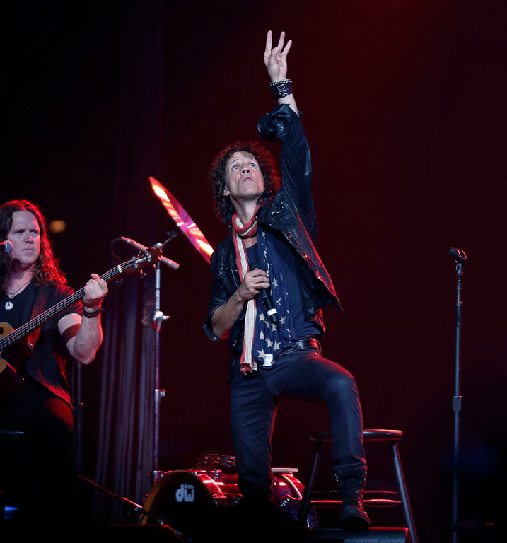 . Gary Cherone, lead singer of American band Extreme performs at the Boston Strong Concert: An Evening of Support and Celebration at the TD Garden on Thursday, May 30, 2013 in Boston. (Photo by Bizuayehu Tesfaye/Invision/AP)