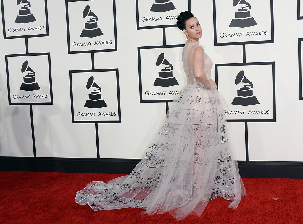 . Singer Katy Perry attends the 56th GRAMMY Awards at Staples Center on January 26, 2014 in Los Angeles, California.  (Photo by Jason Merritt/Getty Images)