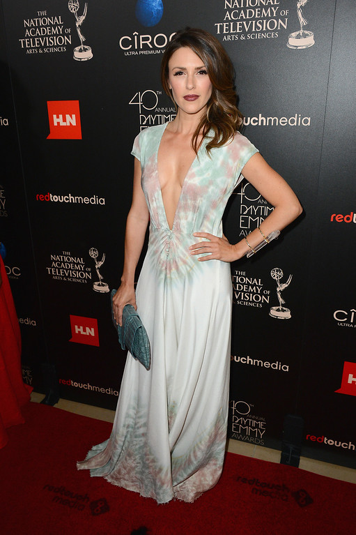 . Actress Elizabeth Hendrickson attends The 40th Annual Daytime Emmy Awards at The Beverly Hilton Hotel on June 16, 2013 in Beverly Hills, California.  (Photo by Mark Davis/Getty Images)
