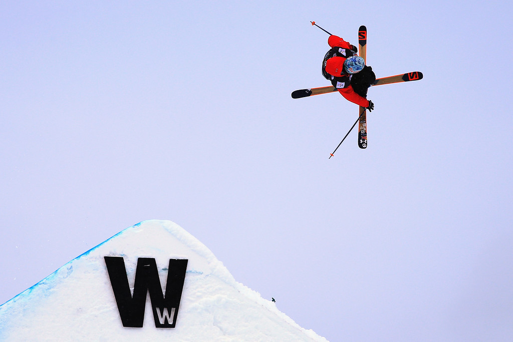 . Bobby Brown of the United States skis to fifth place in the men\'s FIS Slopestyle Ski World Cup at the U.S. Snowboarding and Freeskiing Grand Prix on December 21, 2013 in Copper Mountain, Colorado.  (Photo by Doug Pensinger/Getty Images)