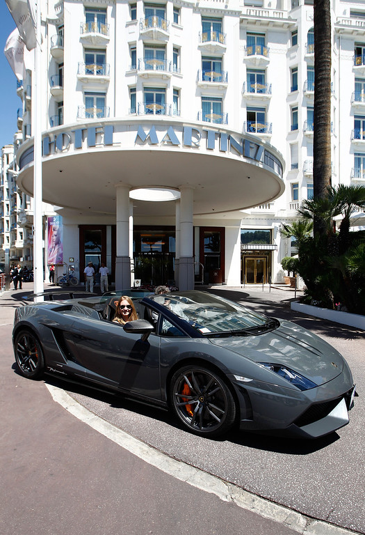 . A general view of a Lamborghini at the Hotel Martinez on opening day during the 65th Annual Cannes Film Festival on May 16, 2012 in Cannes, France.  (Photo by Andreas Rentz/Getty Images)
