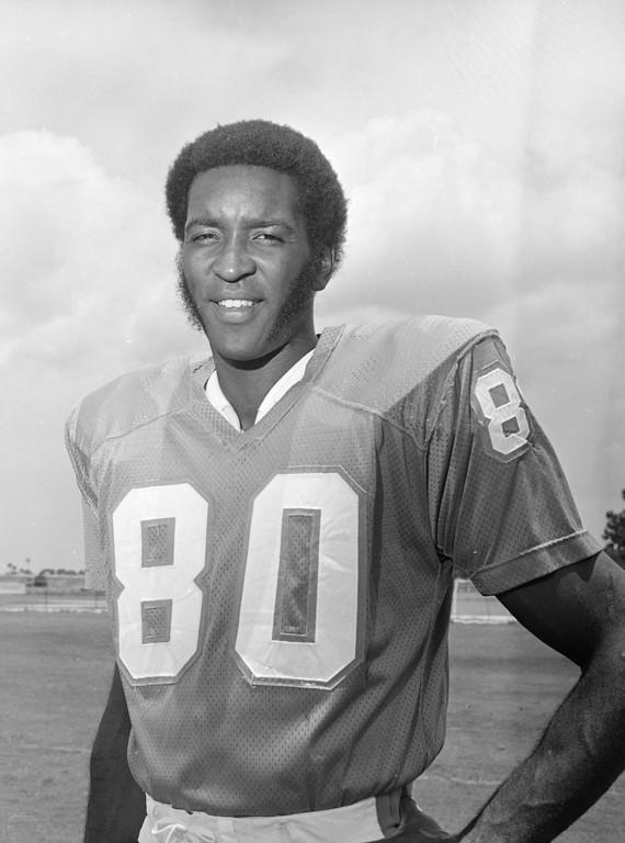 . Miami Dolphins tight end Marv Fleming shown Aug. 9, 1972. (AP Photo)