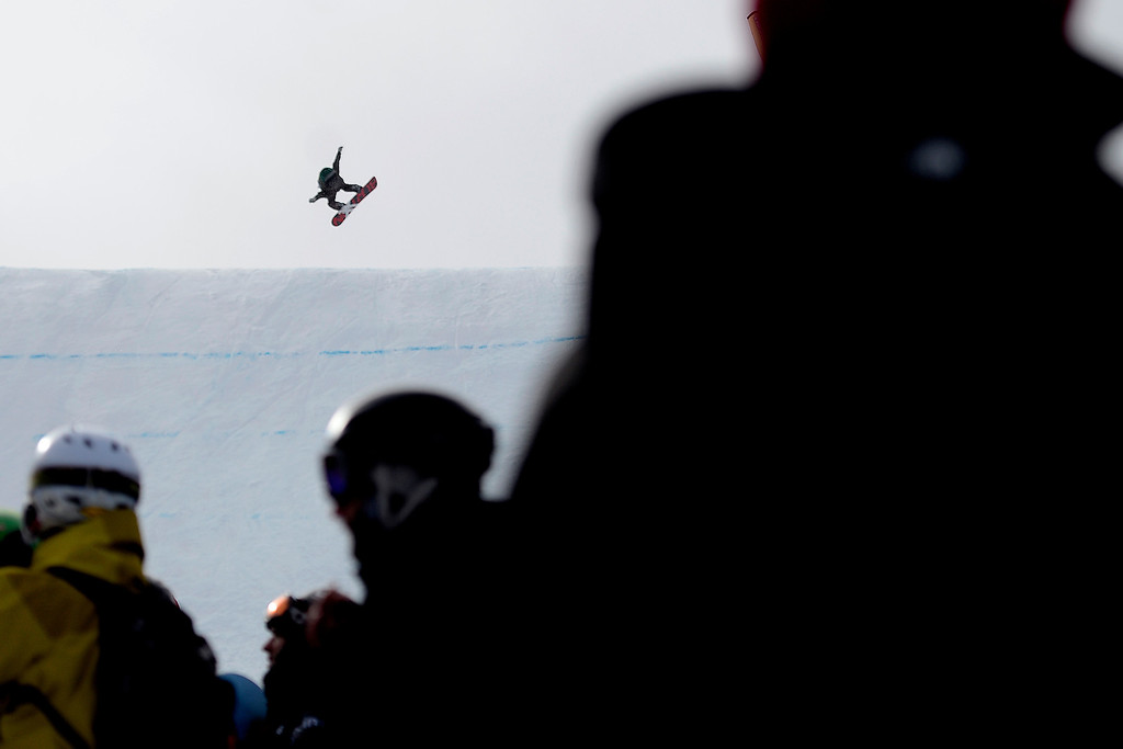 . Scotty James rides during the slopestyle finals of the Copper Mountain Grand Prix.   (Photo by AAron Ontiveroz/The Denver Post)