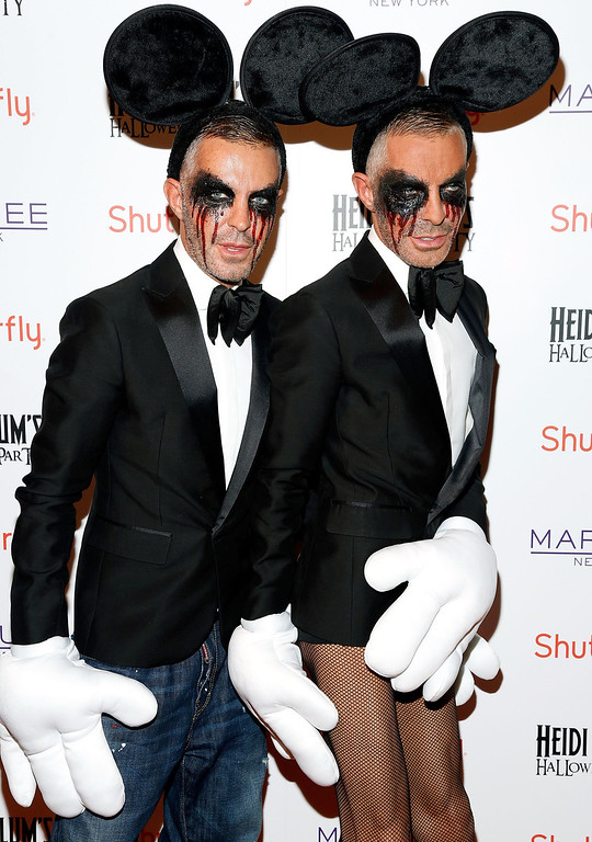 . Designers Dean Caten and Dan Caten attend Shutterfly Presents Heidi Klum\'s 14th Annual Halloween Party sponsored by SVEDKA Vodka and smartwater at Marquee on October 31, 2013 in New York City.  (Photo by Cindy Ord/Getty Images for Heidi Klum)