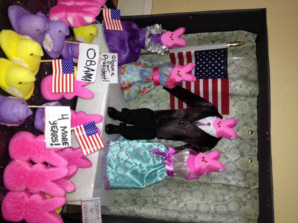 ". ""The Peep-le Have Voted - Obama Wins Again!\""        submitted by Avery Wagner, Age 8"