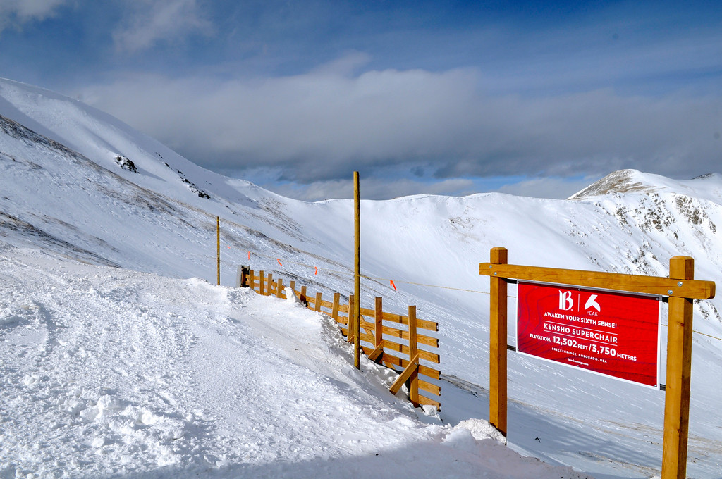 """. Looking north toward Peak 5 from the top terminal of the new Kensho SuperChair, skiers and snowboarders now have lift-served access to \""""Beyond Bowl\"""" as part of the 543-acre expansion to Peak 6 at Breckenridge. Scott Willoughby, The Denver Post"""